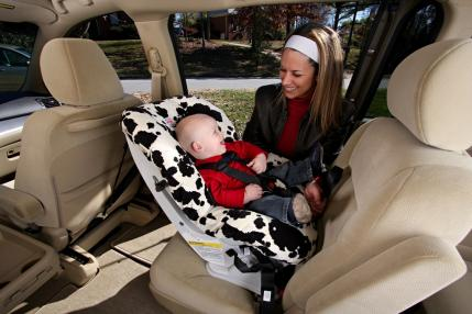 How to install a rear-facing car seat
